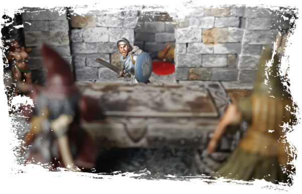 Ein Kreuzritter verdirbt ein paar Kultisten ihr abendliches Opferritual.